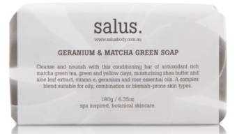 beauty-on-rose-salus-wash-geranium-and-matcha-green-soap-bar-180g