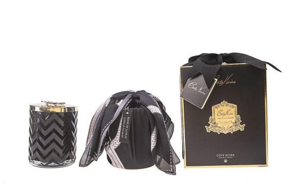 Herringbone Candle Black