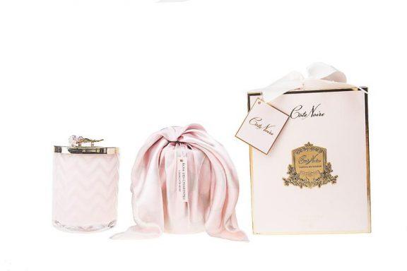 Herringbone Candle Pink