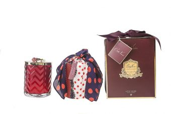 Herringbone Candle Red